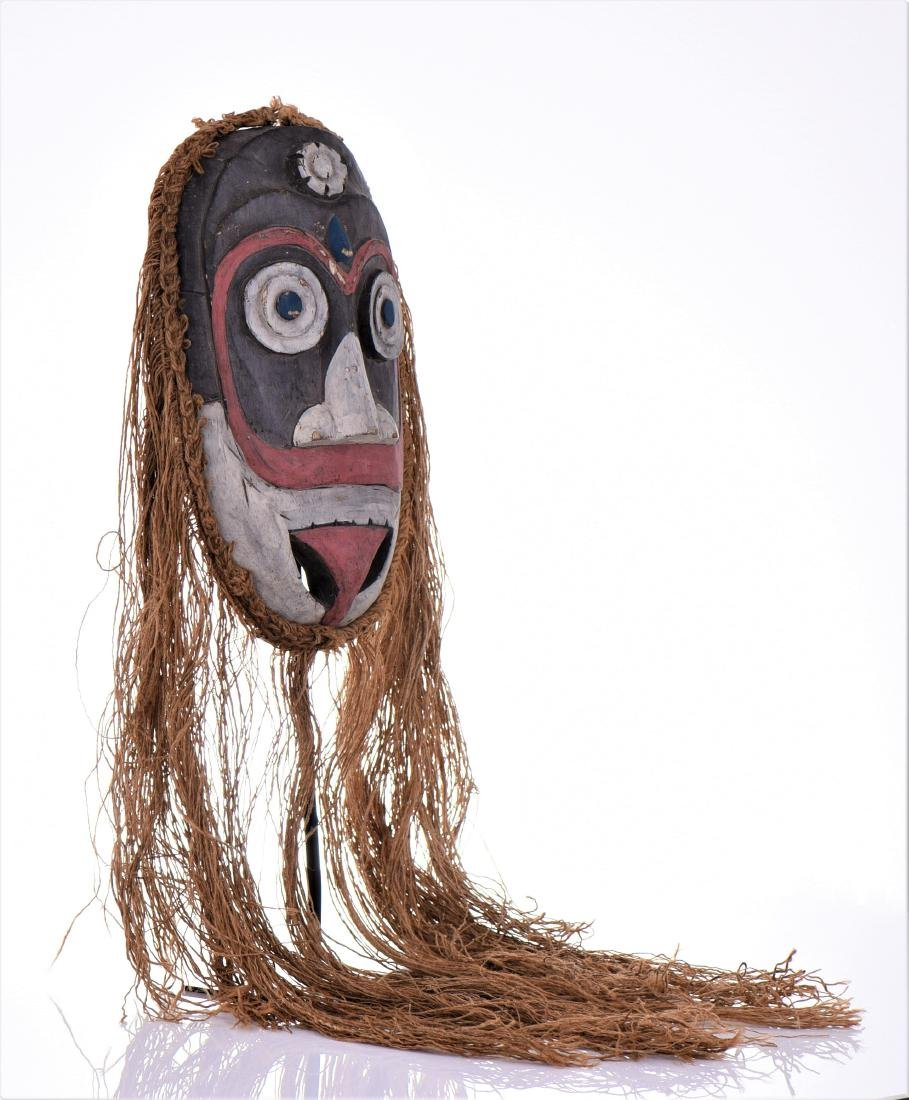 South Pacific Islander Dance Mask, Hand Painted - 3