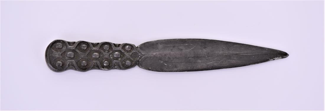 Antique Celtic Pewter Dagger Blade.