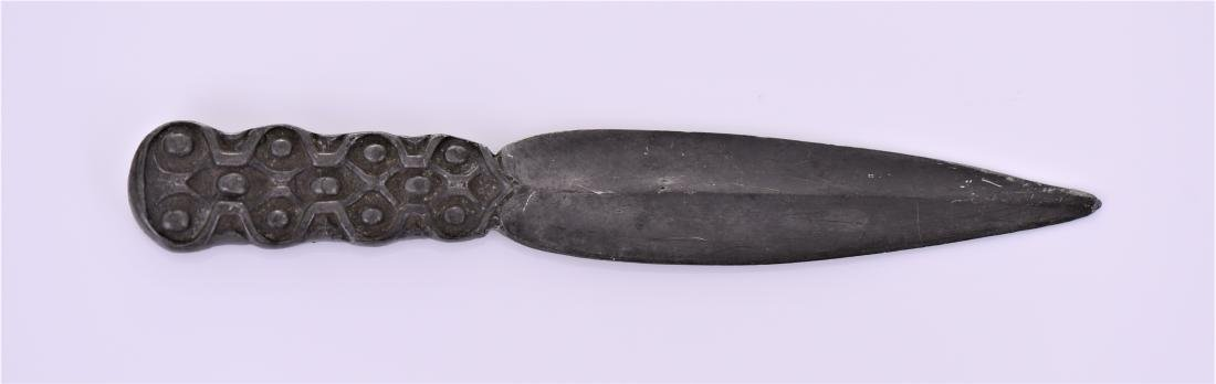 Antique Celtic Pewter Dagger Blade. - 2