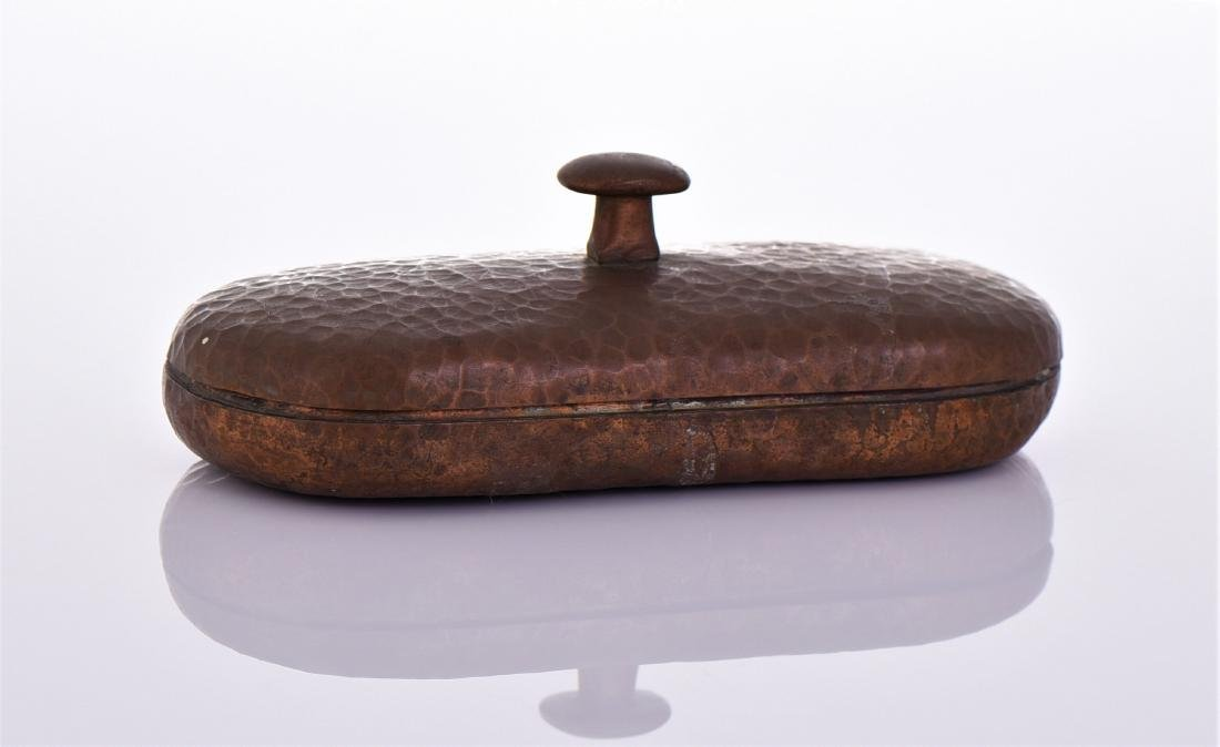 Antique American Arts And Crafts Hammered Copper