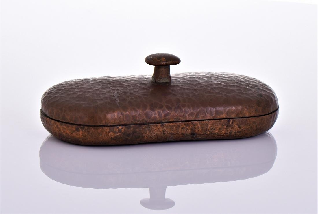 Antique American Arts And Crafts Hammered Copper - 2