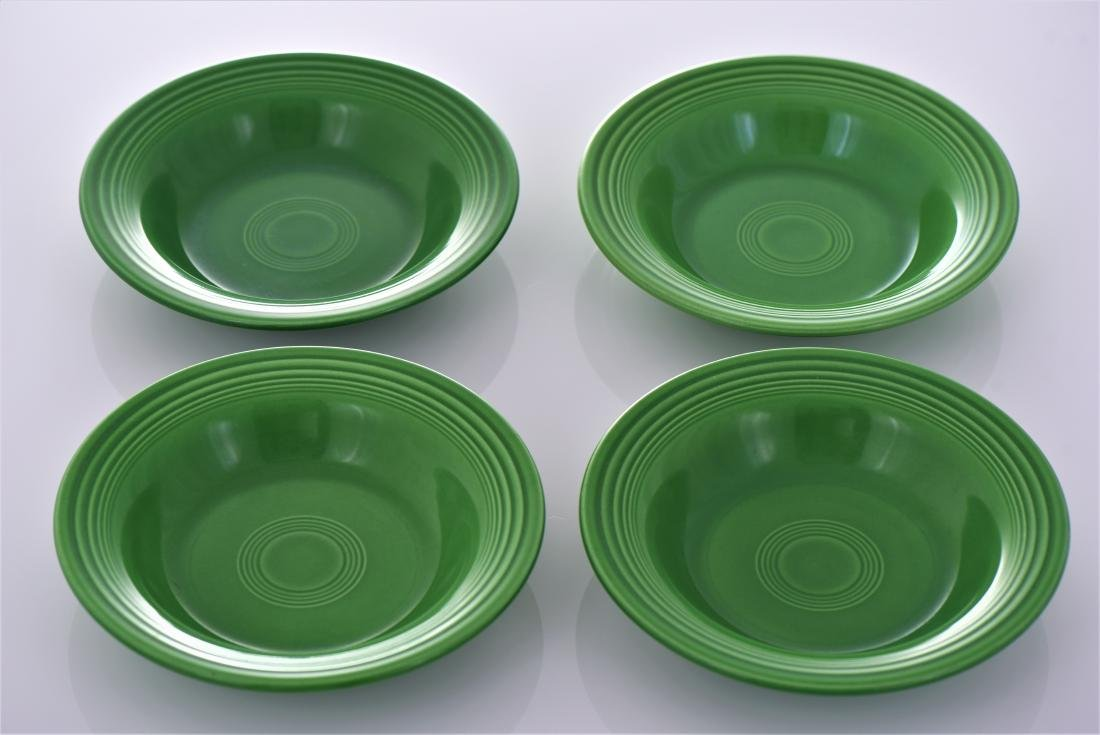 Four Vintage Fiestaware Deep Plates Commonly Known
