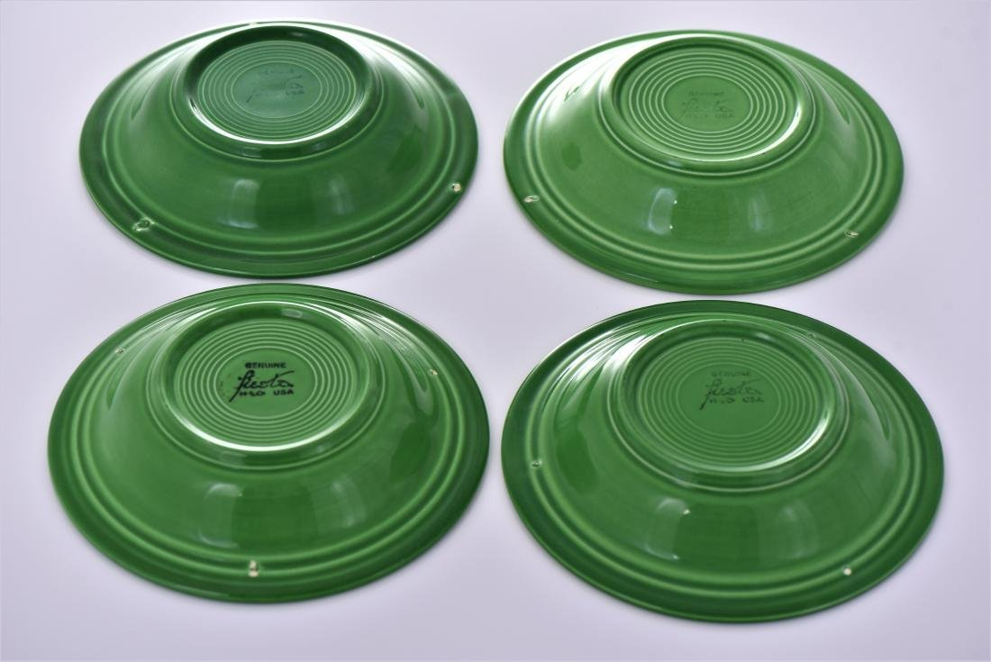 Four Vintage Fiestaware Deep Plates Commonly Known - 2