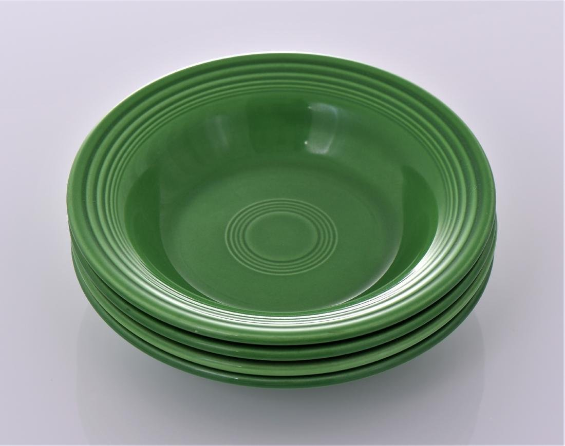 Four Vintage Fiestaware Deep Plates Commonly Known - 4