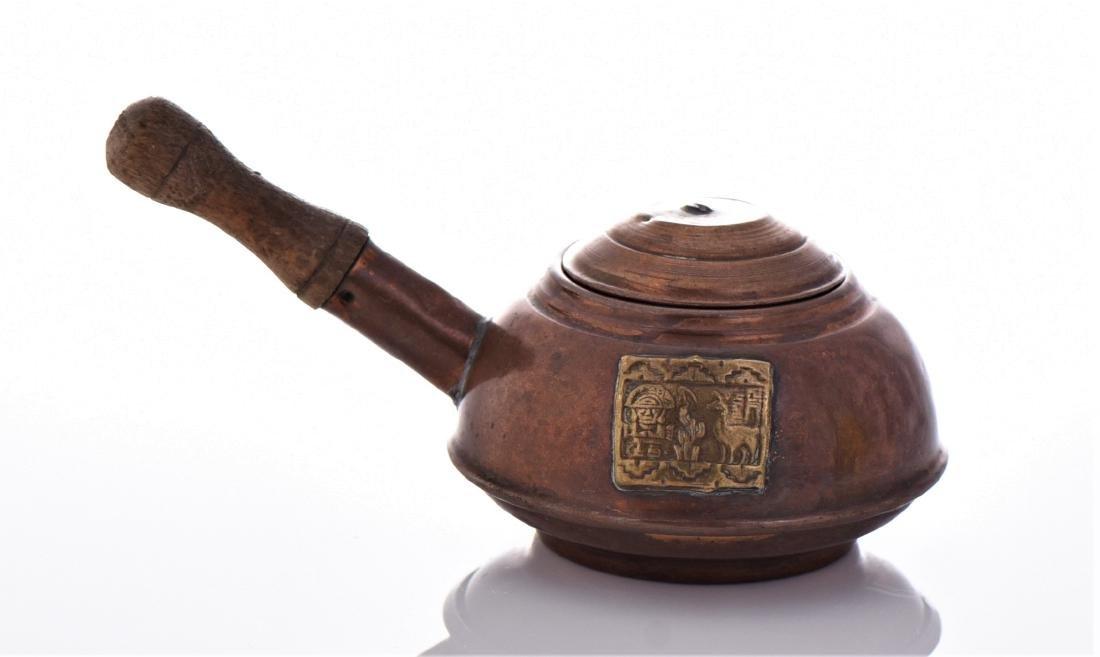 Peruvian Copper And Brass Kettle. - 2