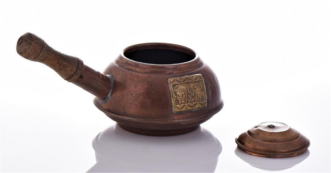 Peruvian Copper And Brass Kettle. - 3