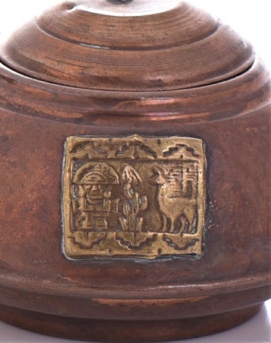 Peruvian Copper And Brass Kettle. - 4