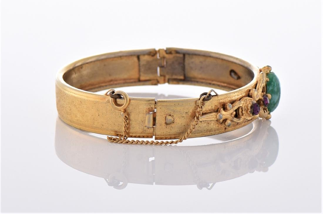 Vintage Yellow Gold Tone/Plated Bracelet. - 2