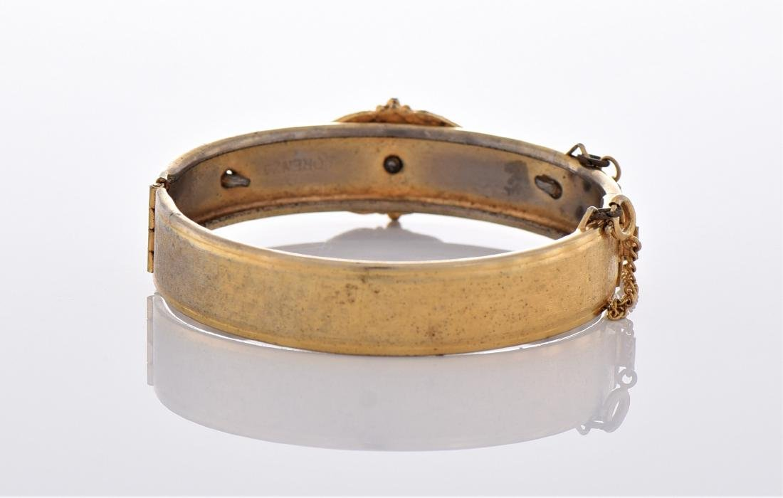 Vintage Yellow Gold Tone/Plated Bracelet. - 3