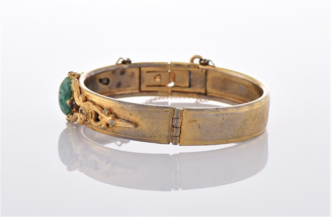 Vintage Yellow Gold Tone/Plated Bracelet. - 4