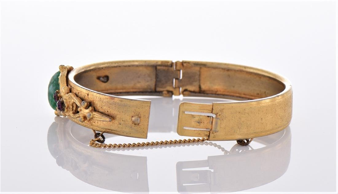 Vintage Yellow Gold Tone/Plated Bracelet. - 6