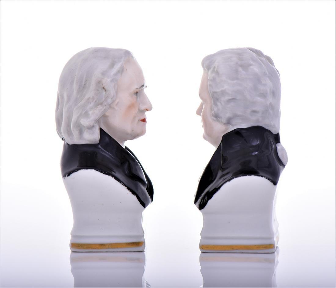 Vintage Capodimonte Erphila Porcelain Busts of - 2