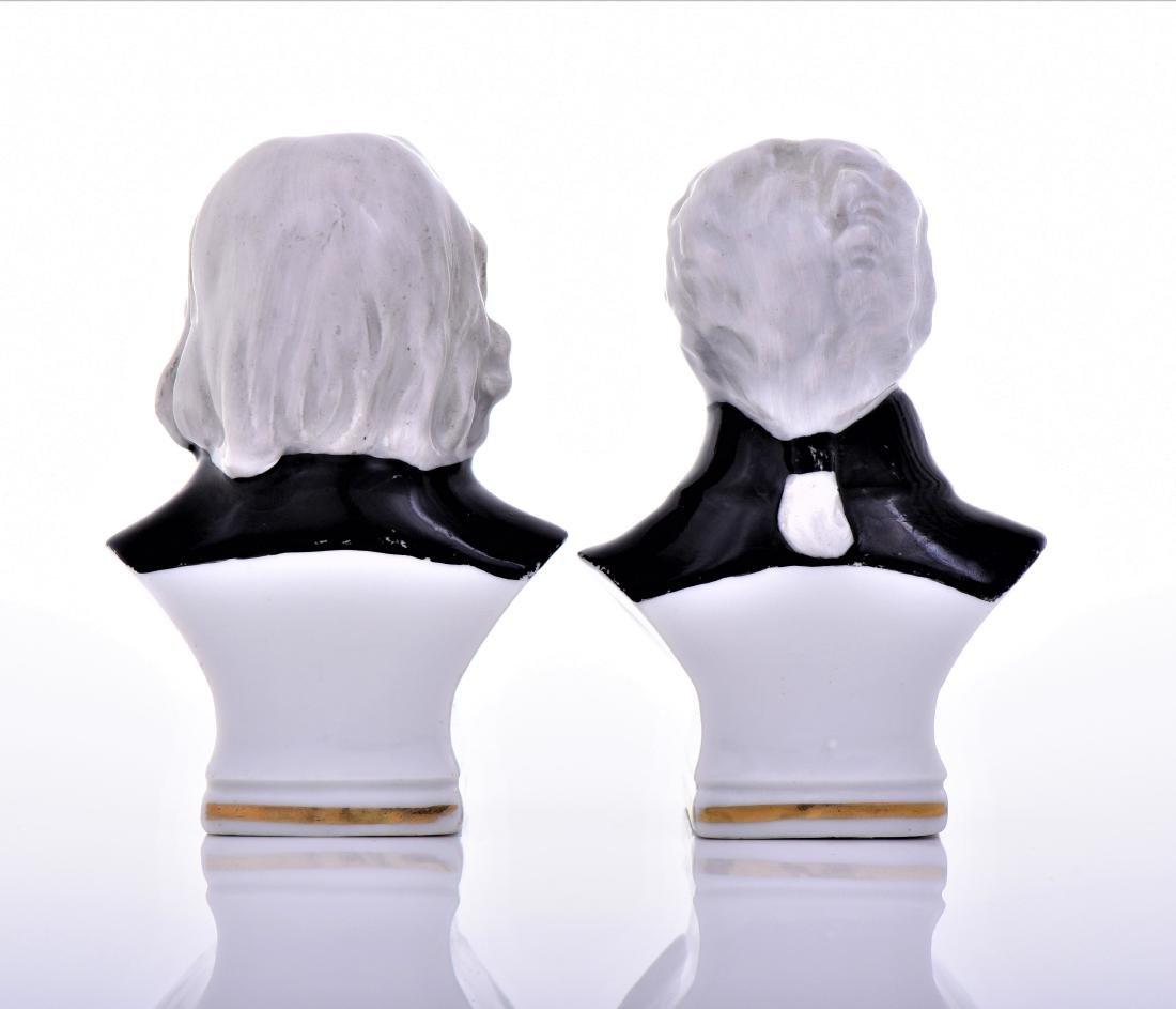 Vintage Capodimonte Erphila Porcelain Busts of - 3