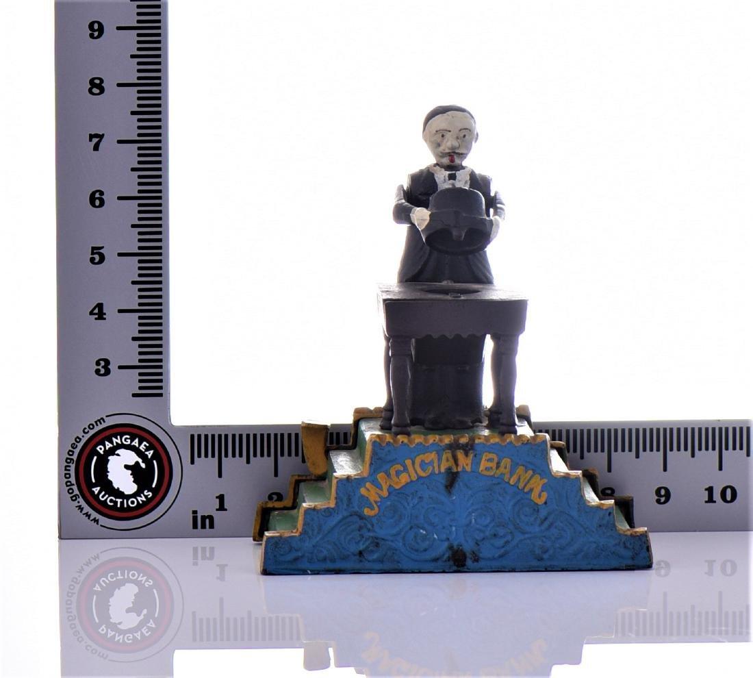 Reproduction Mechanical Cast Iron Magician Bank. - 6