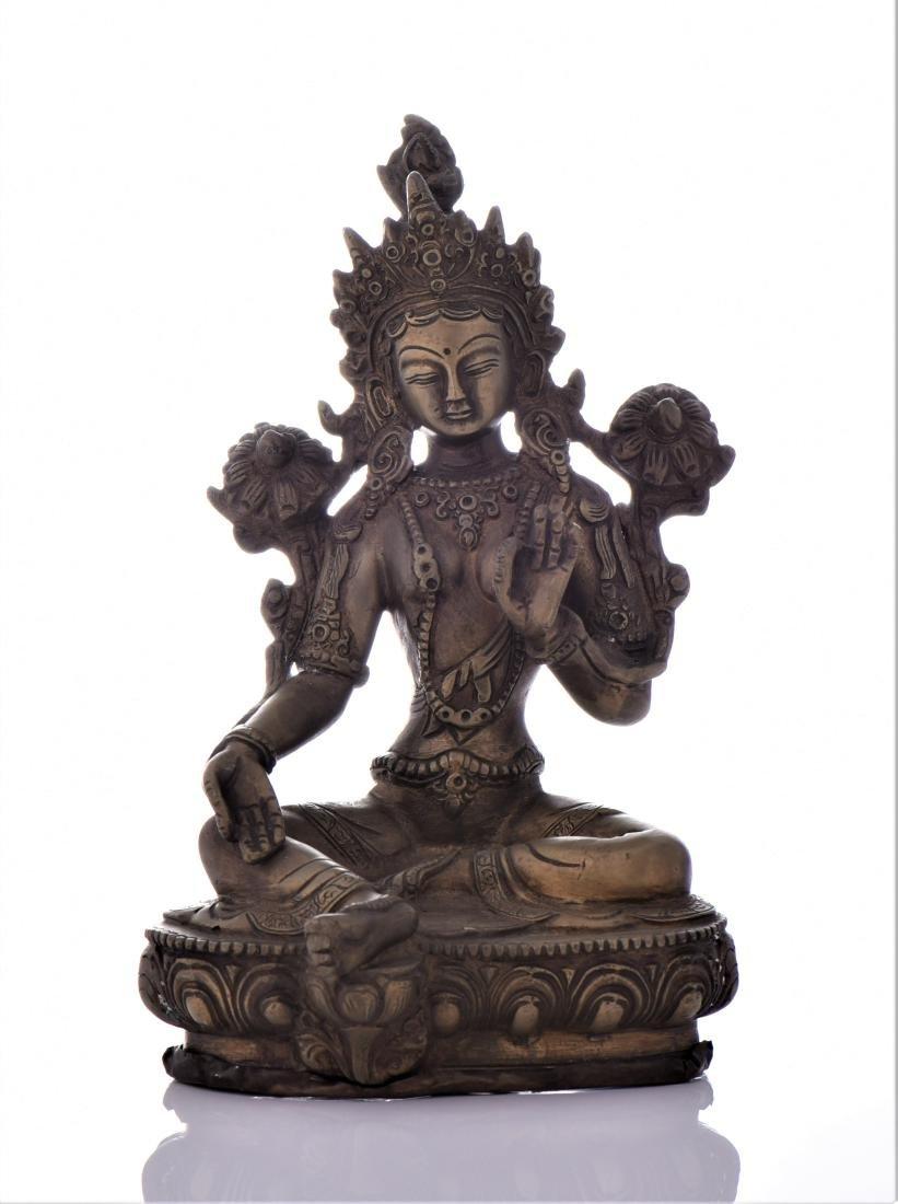 Bronze Tibetan Buddha With Removable Secret