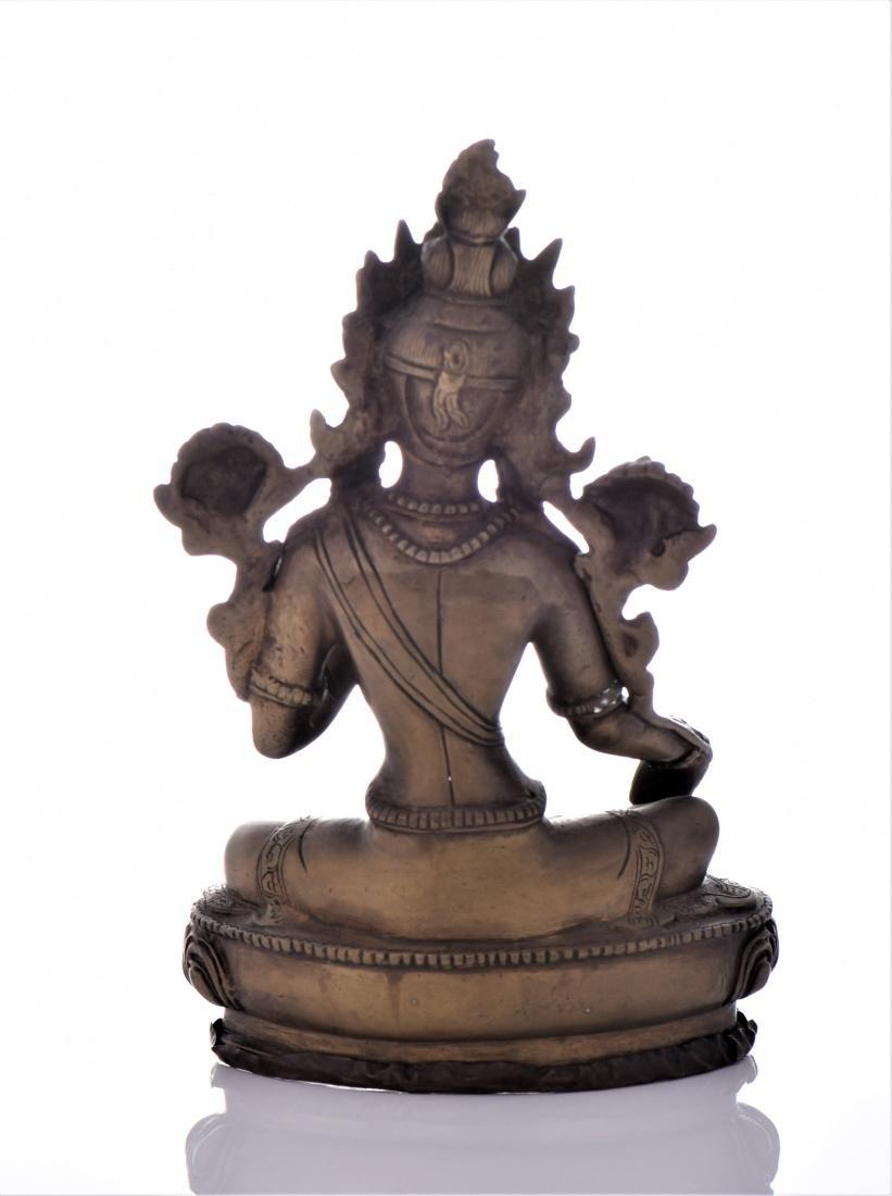 Bronze Tibetan Buddha With Removable Secret - 3