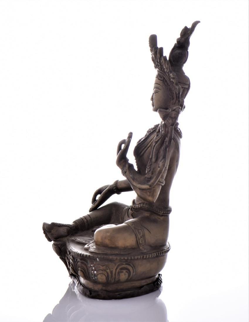 Bronze Tibetan Buddha With Removable Secret - 4