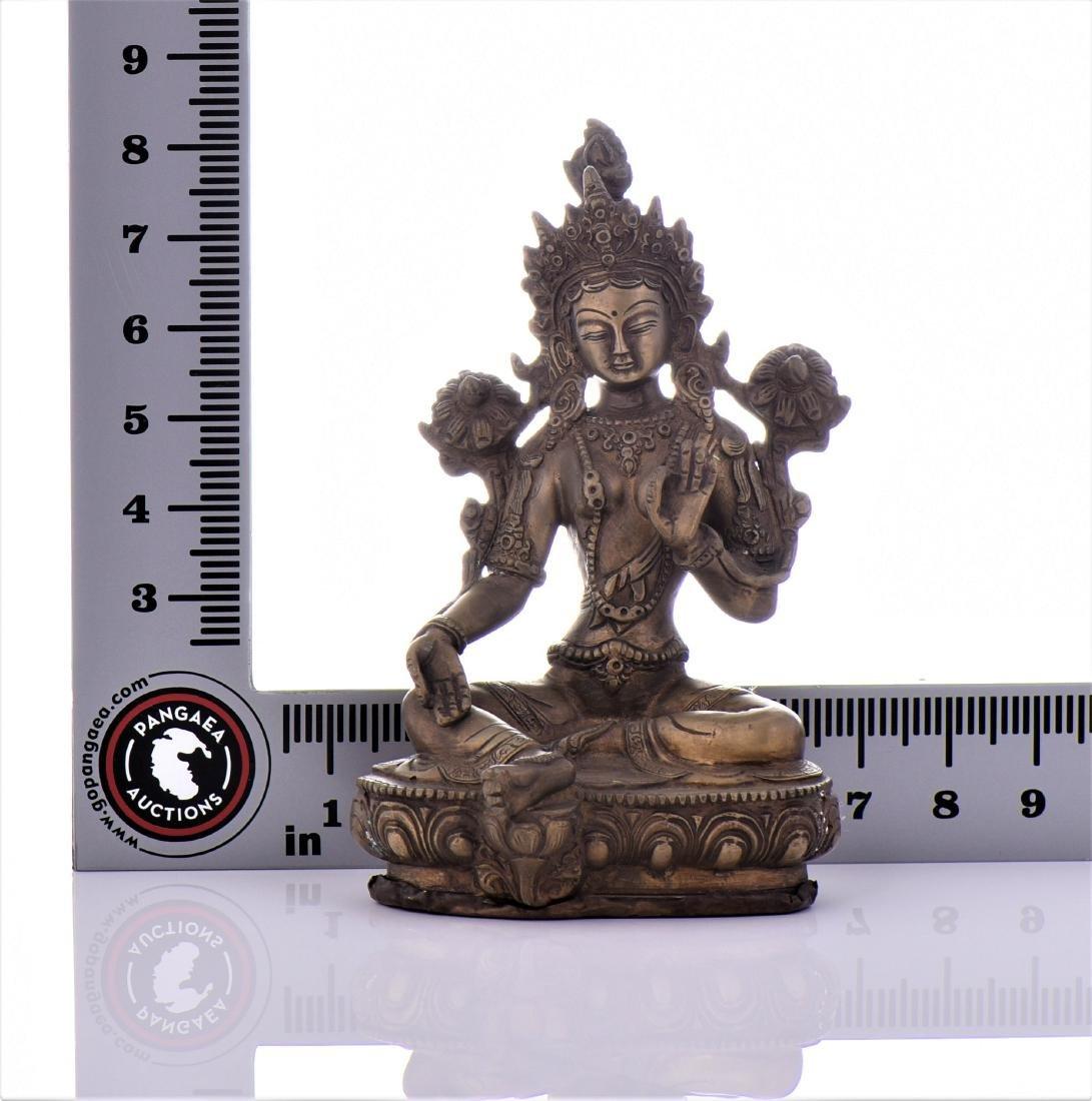 Bronze Tibetan Buddha With Removable Secret - 6
