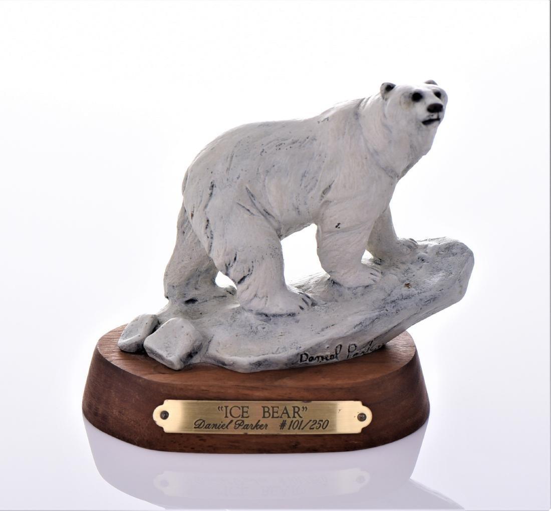 Daniel Parker Bronze Sculpture Titled Ice Bear,