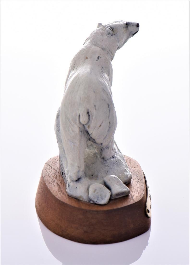 Daniel Parker Bronze Sculpture Titled Ice Bear, - 2
