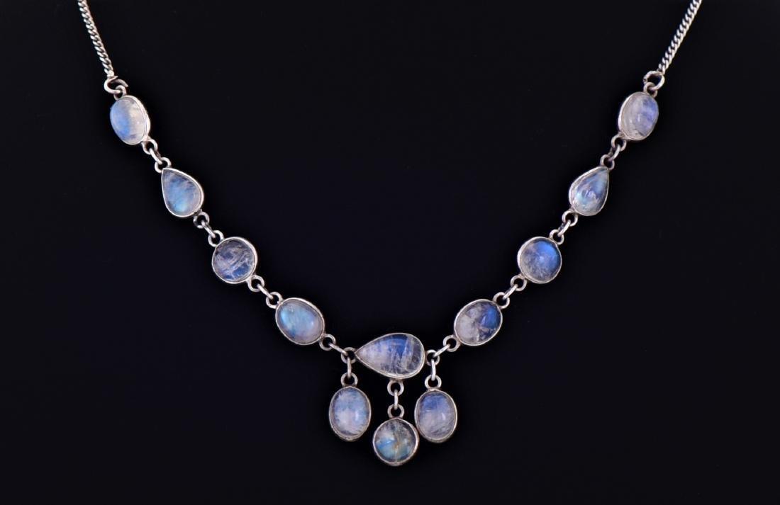 Opal Aura Quartz Sterling Silver Necklace. Reveals