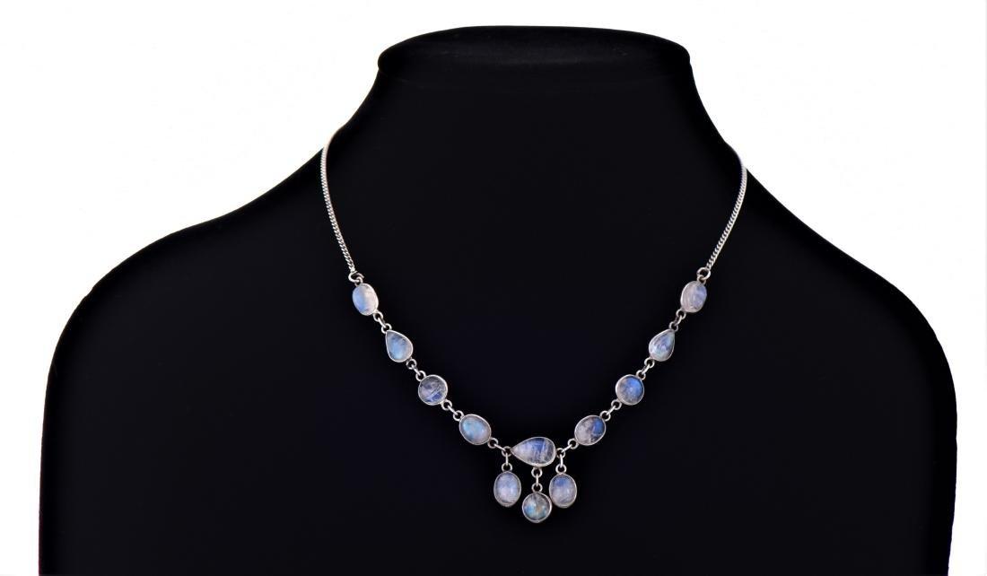 Opal Aura Quartz Sterling Silver Necklace. Reveals - 2