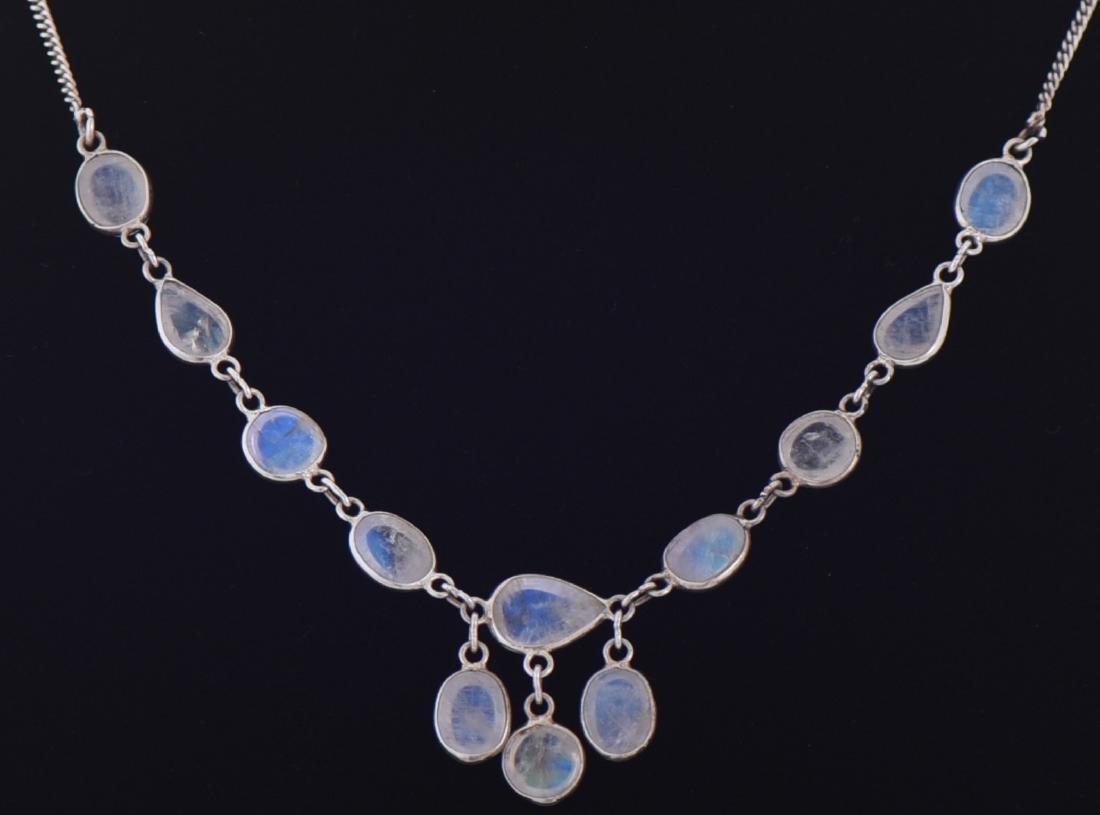 Opal Aura Quartz Sterling Silver Necklace. Reveals - 3