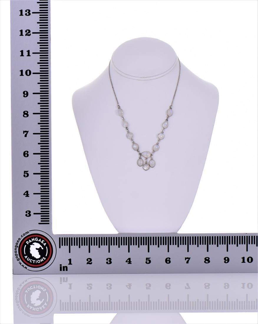 Opal Aura Quartz Sterling Silver Necklace. Reveals - 4