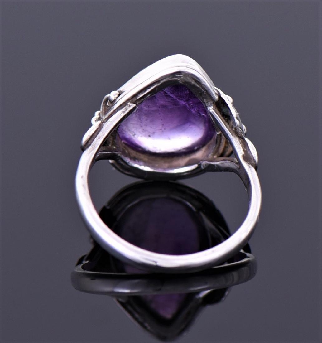 Vintage Amethyst Sterling Silver Ring. - 2