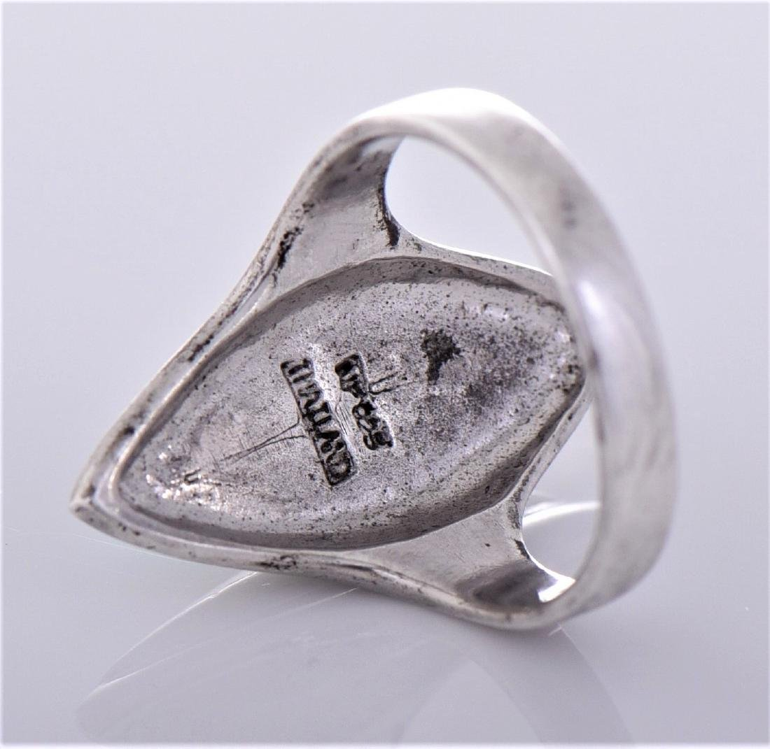 Turquoise Sterling Silver Ring, Thailand. Silver - 4
