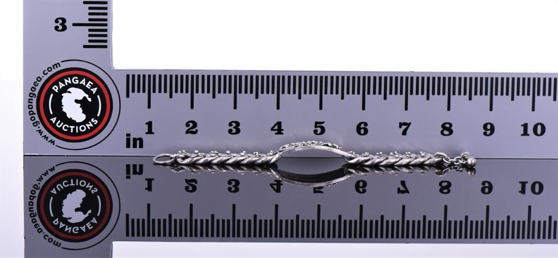Lois Hill, Heavy Sterling Silver Link Bracelet, - 3