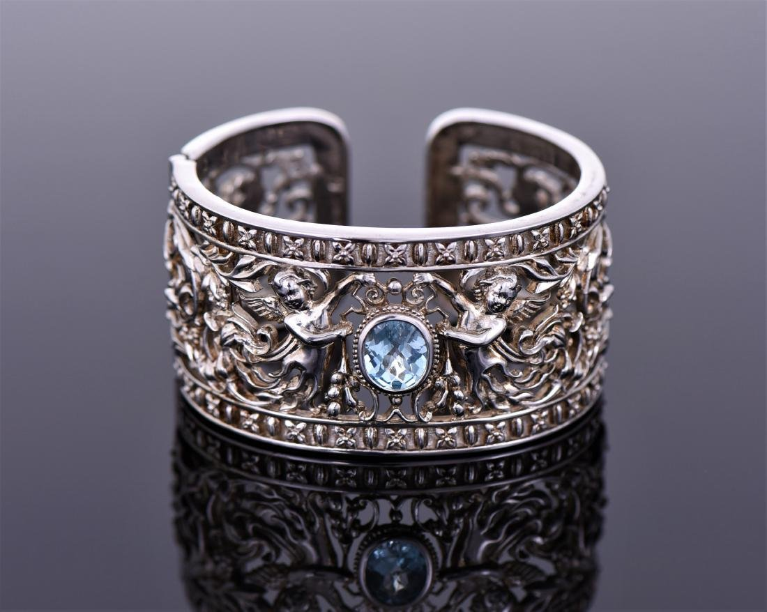 Heavy Vintage Sterling Silver Cuff Bracelet