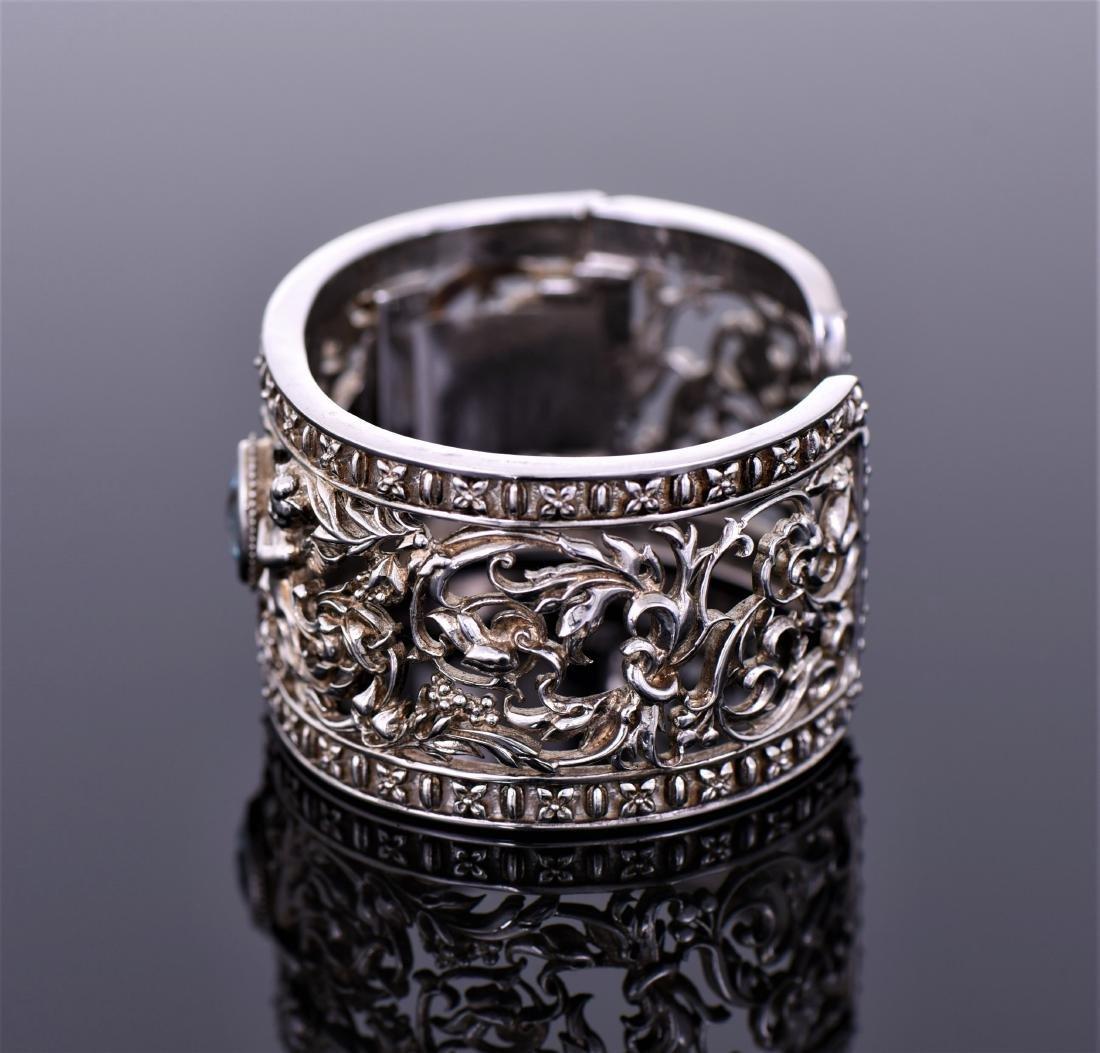Heavy Vintage Sterling Silver Cuff Bracelet - 3