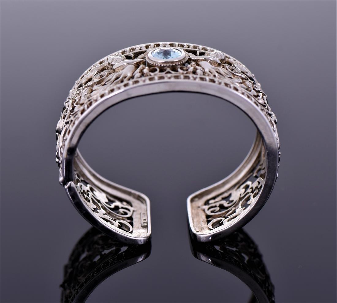 Heavy Vintage Sterling Silver Cuff Bracelet - 6