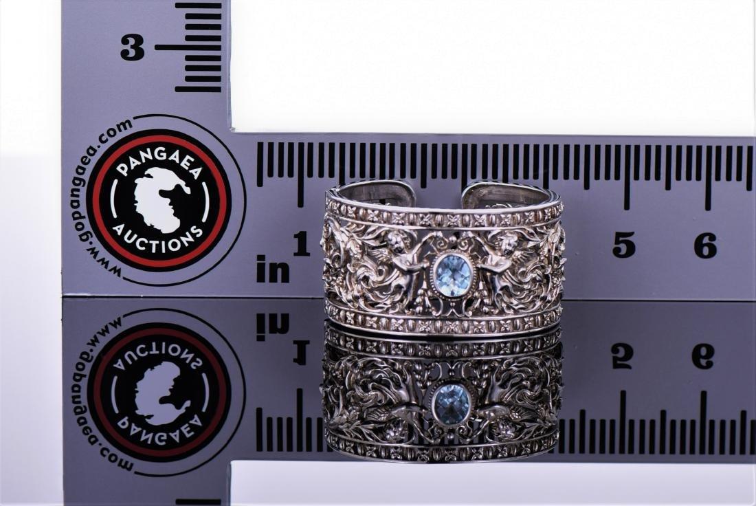 Heavy Vintage Sterling Silver Cuff Bracelet - 7