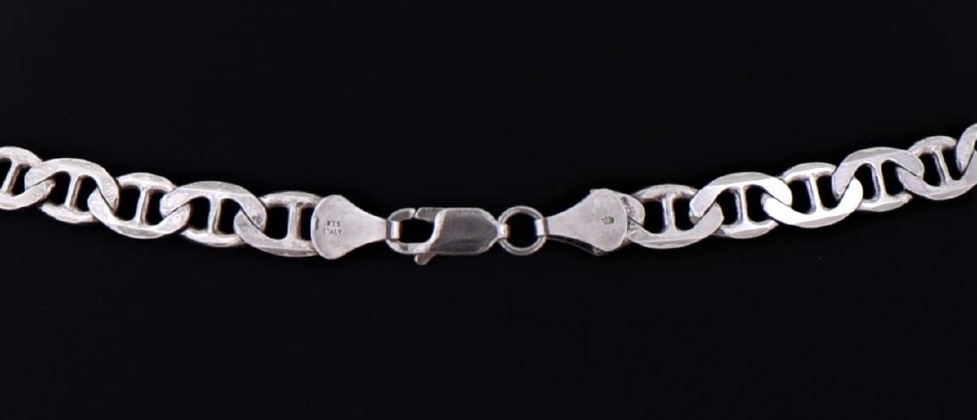 Vintage Italian Sterling Silver Anchor Chain. - 3