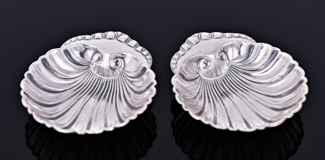Two Vintage Sterling Sliver Scallop Shell Shaped