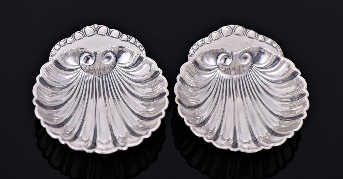 Two Vintage Sterling Sliver Scallop Shell Shaped - 2