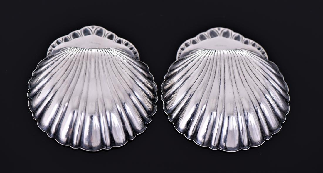 Two Vintage Sterling Sliver Scallop Shell Shaped - 3