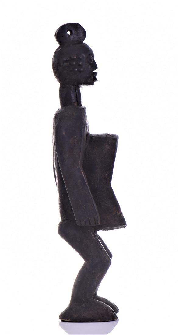 African Koro Anthropomorphic Wood Cup Sculpture, - 2