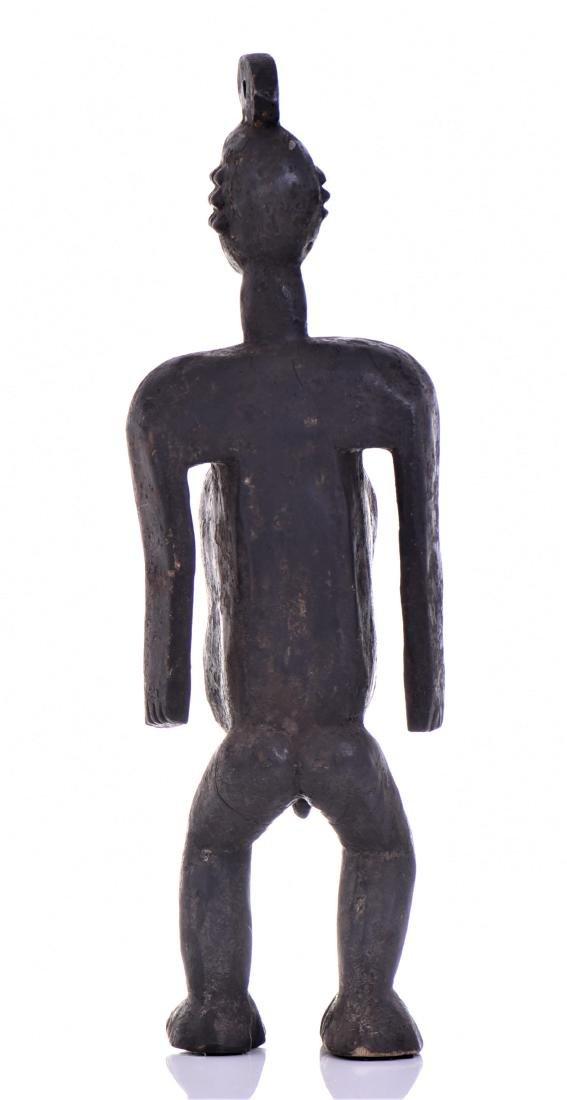 African Koro Anthropomorphic Wood Cup Sculpture, - 3