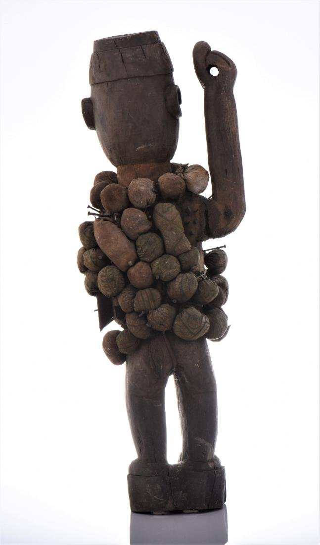 African Congo Yombe Nail Power Figure Fetish, - 2