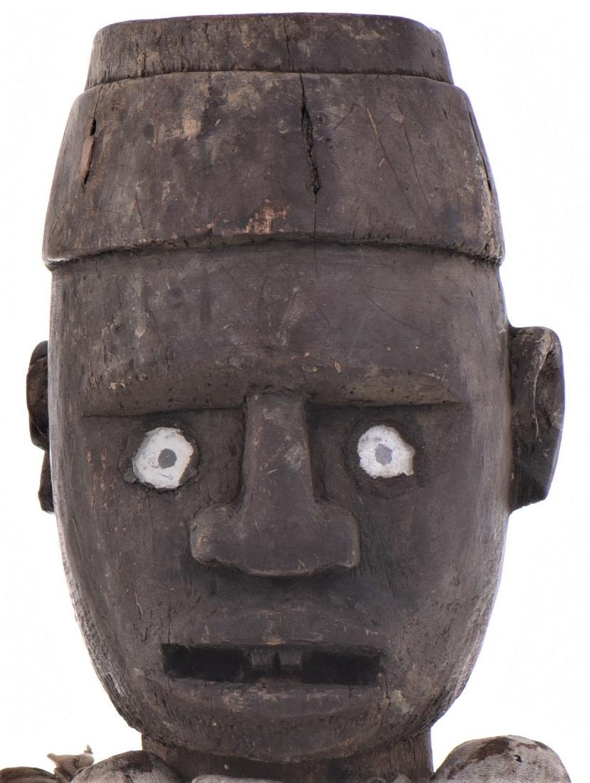 African Congo Yombe Nail Power Figure Fetish, - 3