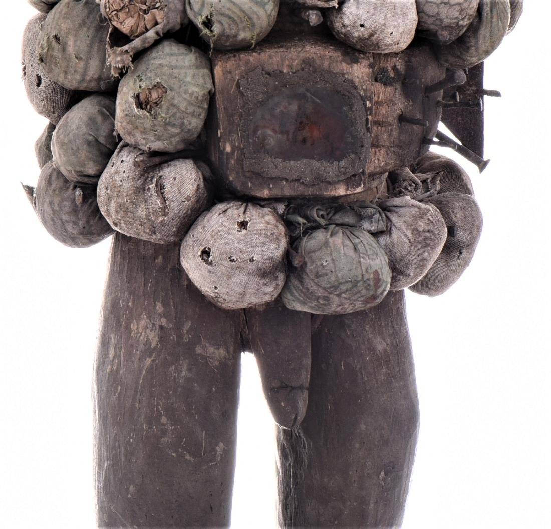 African Congo Yombe Nail Power Figure Fetish, - 5