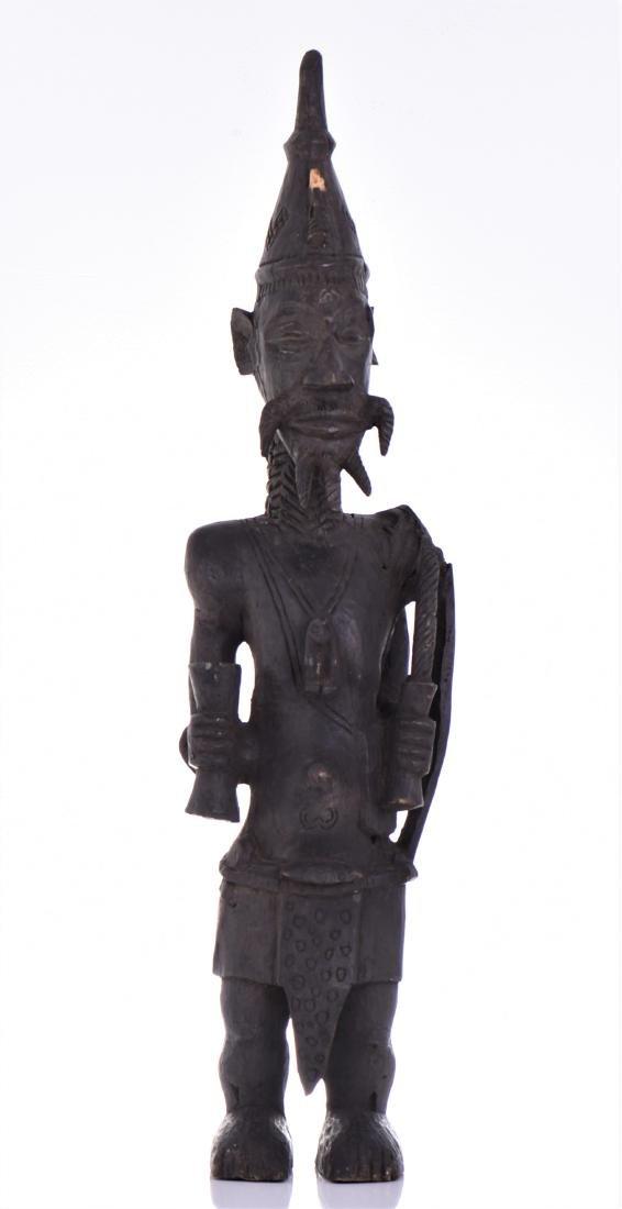 African Lulua Wood Power Figure Warrior King,