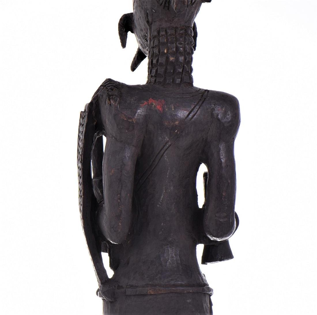 African Lulua Wood Power Figure Warrior King, - 8