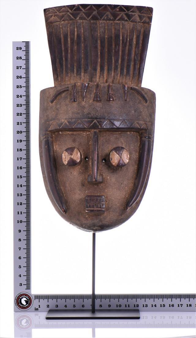 African Grebo Wood Mask, ivory coast. - 5