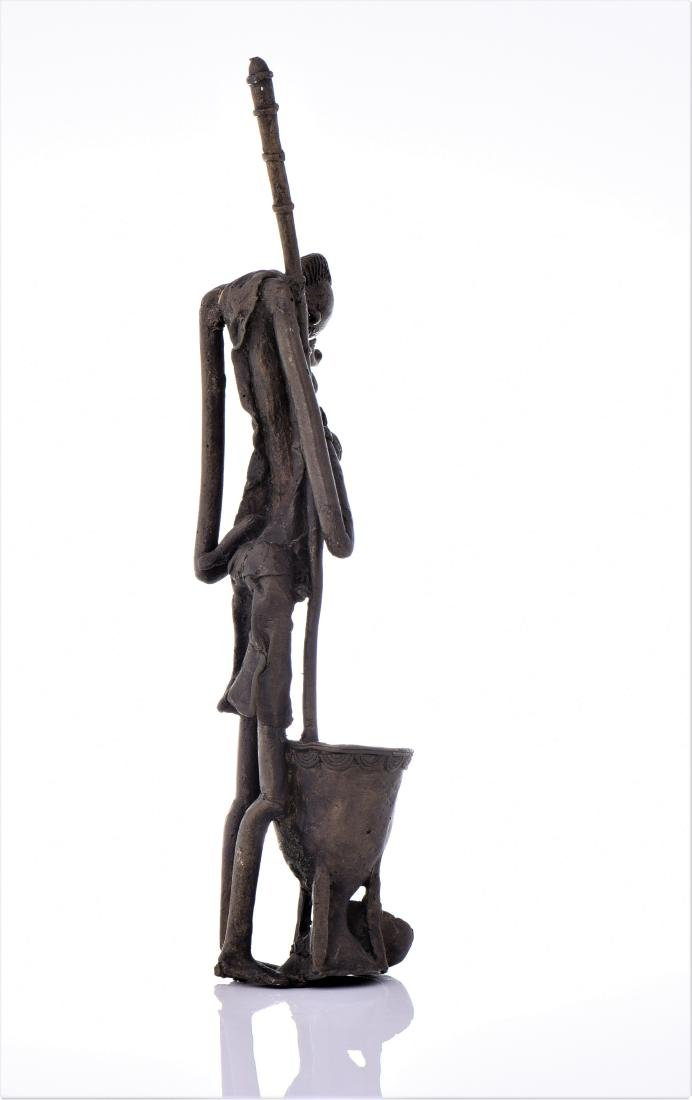 African Dogon Bronze Sculpture of A Mother Nursing - 2