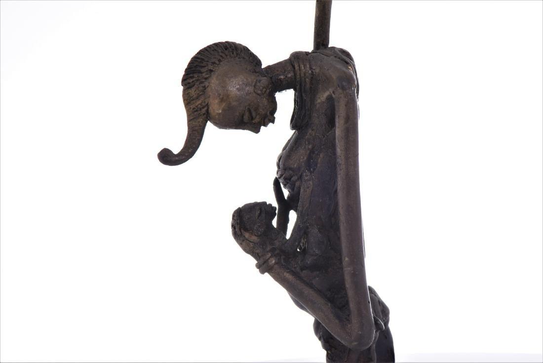 African Dogon Bronze Sculpture of A Mother Nursing - 5