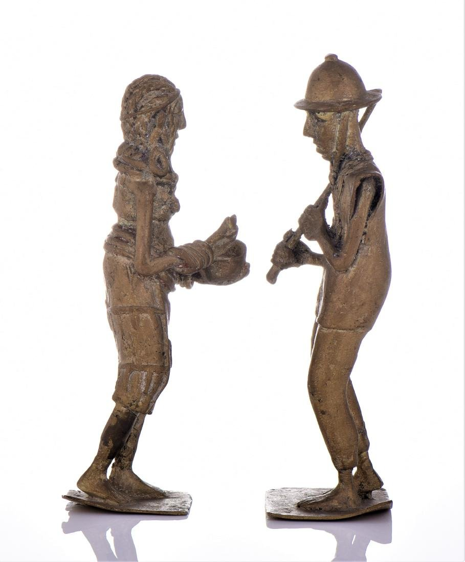 Two Antique Colonial Brass South African Sculpture - 4